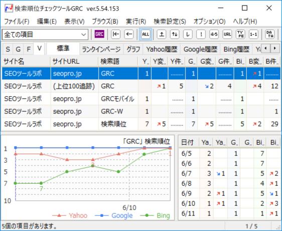 GRC検索結果画面